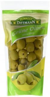 Feinkost Dittmann Grüne Oliven ohne Stein, 10er Pack (10 x 250 g)