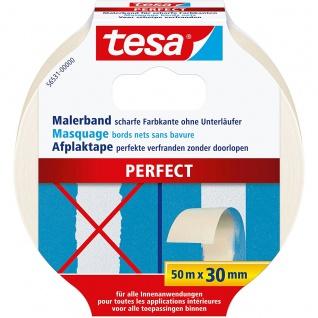 Tesa Malerband Perfect ermöglicht scharfe Farbkanten 50m x 30mm