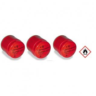 Industrial C200 Supergas Anstechkartuschenset Einweg Kartusche 3er Set