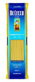 De Cecco Spaghettini, No.11, 500g