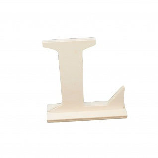 Holzbuchstabe L dekorativer Bastelbuchstabe aus Holz Höhe 150mm