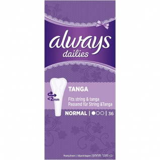 Always Twist und Flex Slipeinlagen Tanga Einzelpack 36 Stück