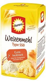 Aurora Weizenmehl Type 550 extra backstark mit dem Sonnenstern 1000g
