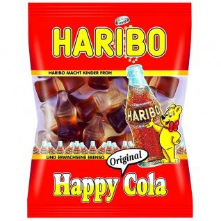 Haribo Happy Cola Fruchtgummi Flaschen mit Cola Geschmack 100g