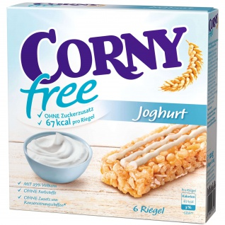 Corny free Joghurt Geschmack sechs einzel verpackte Müsliriegel 120g