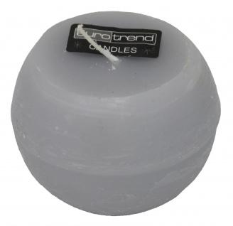 Rundkerze Rusti steingrau Euro Trend Candles im Durchmesser 10cm
