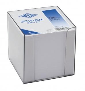 WEDO Zettelbox Memobox rauchglas Kunststoff mit 700 Notizzetteln