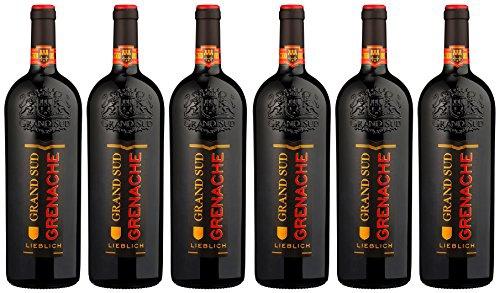 Grand Sud Grenache Rouge Lieblicher Rotwein rubinrot 1000ml 6er Pack