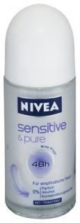 Nivea Deo Roll-On Sensitive&Pure, 3er Pack (3 x 50 ml)