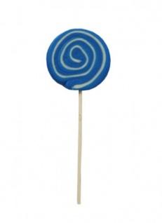 Spiral Lolly Boy blau weiß extra großer Lutscher mit Ananasgeschmack 80g