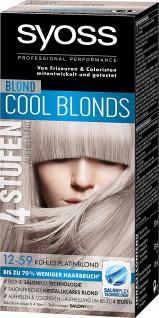 Syoss Blond 3 Stufe 12 bis 59 kühles Platinblond 345ml 3er Pack