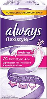 always Slipeinlagen Flexistyle, 1er Pack (1 x 74 Stück) - Vorschau