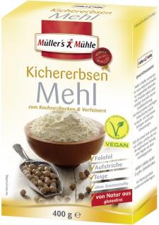 Müllers Mühle Kichererbsen Mehl zum Kochen Backen und verfeinern 400g