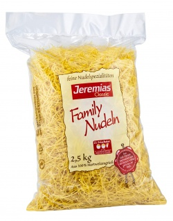 Jeremias Classic Family Suppennudeln 2mm dick mit Frischei 2500g