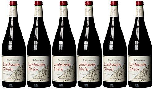 Rebknorze Rheinischer Landwein Rot halbtrocken 1000ml 6er Pack