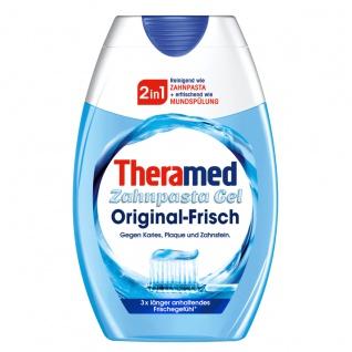 Theramed 2in1 Zahnpasta Gel und Mundspülung Original Frisch 75ml