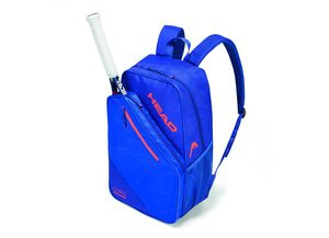 HEAD Core Backpack Tennistasche mit Schlägerfach blau orange