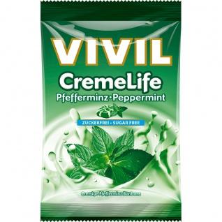 Vivil Creme Life Pfefferminz zuckerfrei cremig Beutel 110g 5er Pack