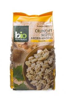 Biozentrale Crunchy Knusprige Volkornmüsli Ahorn Mandel 375g 2er Pack