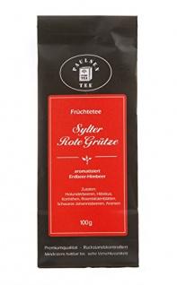 Paulsen Sylter Rote Grütze aromatisierter Erdbeer Himbeer Tee 100g