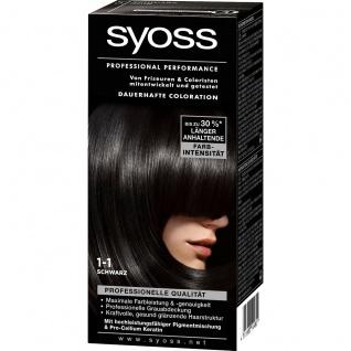 Syoss Professional Performance Coloration, 1-1 Schwarz, 1er Pack (1 x 1 Stück)