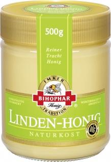 Bihophar Linden Honig Naturkost Reiner Trachthonig im Glas 500g