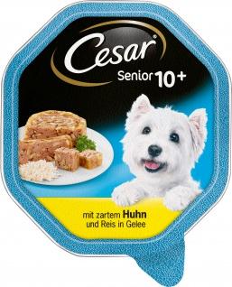 CESAR Senior 10+ mit zartem Huhn und Reis in Gelee 150g