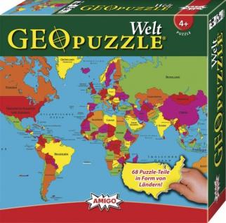 Amigo GeoPuzzle Welt Ein schönes Puzzle für Kinder ab 4 Jahren