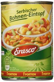 Erasco Serbischer Bohnen-Eintopf mit Rauchspeck 400g 3er Pack