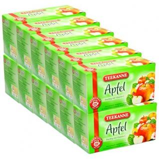 Teekanne Apfeltee fruchtig mit Vitamin C Früchtetee 12er Pack