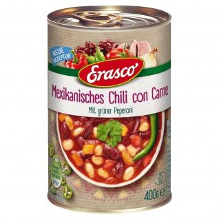 Erasco Mexikanisches Chili con Carne grüne Peperoni 400g 3er Pack