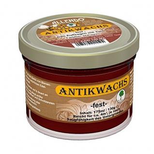 Allendo Antikwachs fest mahagoni Auf Basis von Bienenwachs Glas 130g