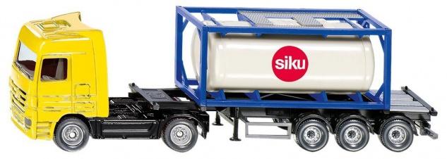 SIKU Mercedes LKW mit Tankcontainer