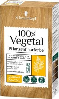 Schwarzkopf 100 Prozent Vegetal Goldblond pflantliche Haarfarbe