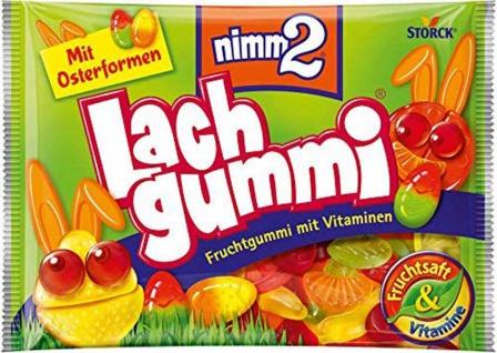 Nimm 2 Lachgummi mit Vitaminen und Fruchtsaft Oster Mix 250g