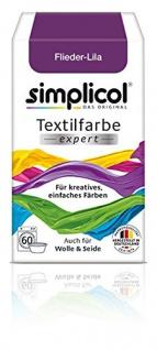 """Simplicol Textilfarbe expert -Für kreatives, einfaches Färben - 1707 """" Flieder-Lila"""" Neu!"""
