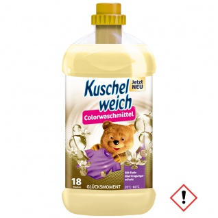 Kuschelweich Colorwaschmittel Glücksmoment für 18 Waschladungen