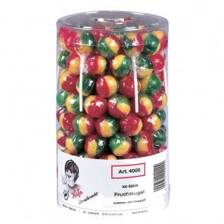 Küfa Frucht Kugeln 100 einzel verpackte Lolly mit Fruchtgeschmack