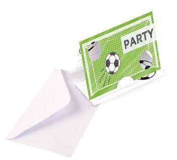 Amscan 8 Einladungskarten Fußball Kicker Party Geburtstagskarten