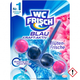 WC Frisch Kraft Aktiv Blauspüler Blüten Frische 50g 10er Pack