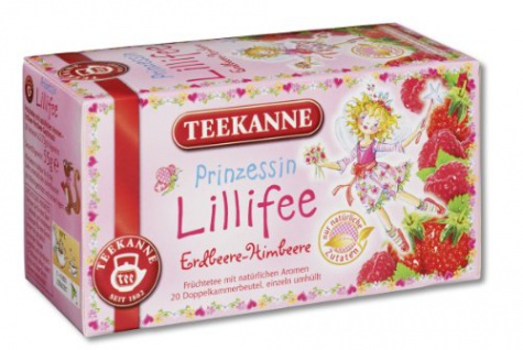 Teekanne Prinzessin Lillifee Erdbeere Himbeer Früchtetee 3er Pack