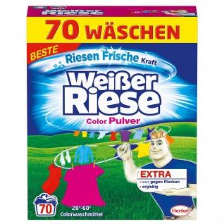 Weißer Riese Color Pulver Colorwaschmittel, Farbschutzformel 70WL 3, 85kg