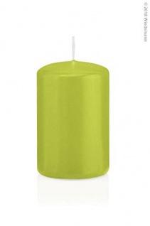 Stumpenkerzen 80 x 50 mm 24 Stück - RAL Gütezeichen - Apfelgrün