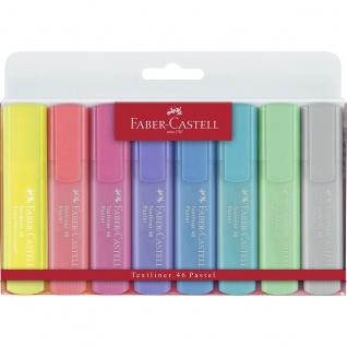 Faber Castell Textmarker 46 Superflourescent und Pastell 8 Farben