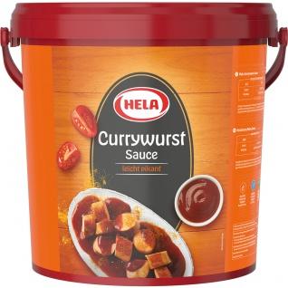 Hela Currywurst Sauce leicht pikante Würzsauce für Currywust 10000ml