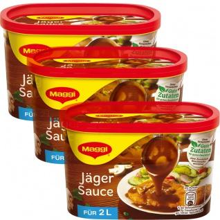 Maggi Jäger Sauce ideal für Schnitzel Braten und Steaks 200g 3er Pack