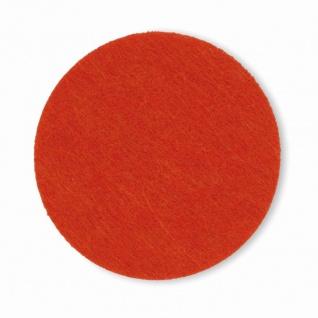 Glas Untersetzer Filz von keck und lang Serie ALIA orange 10 cm