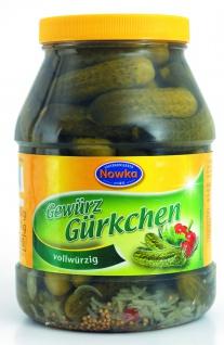 Paulsen Nowka Gewürz-Gürkchen im Glas eingelegt vollwürzig 1000g