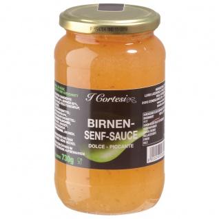 Cortesi Birnen Senf Sauce Dolce Piccante würzig pikante Kreation 730g