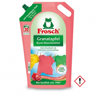 Frosch Bunt Waschmittel Granatapfel hohe Waschkraft 1800ml 5er Pack